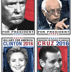 2016 Campaign Posters Complete Set