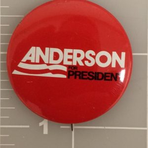 Red Anderson For President With White And Black Lettering Button