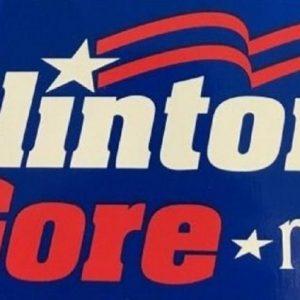 1992 Clinton Gore NEA bumper sticker