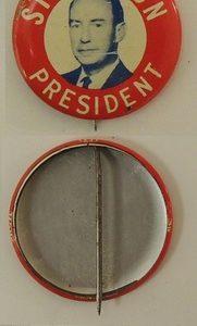 Stevenson President Lithograph Campaign Button