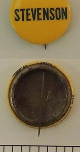 Yellow Stevenson Campaign Button