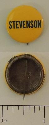 Yellow Stevenson Campaign Button