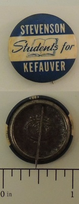 Students For Stevenson Kefauver Campaign Button