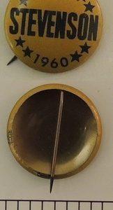Stevenson 1960 Gold Litho Campaign Button