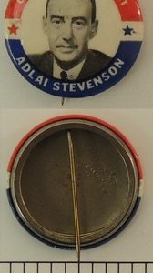 Our Next President Adlai Stevenson Campaign Button