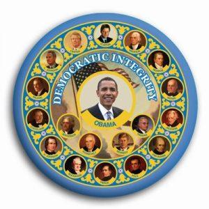 Barack Obama Campaign Button - Democratic Integrity