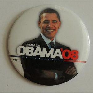 Barack Obama 08 Campaign Button