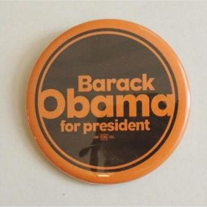 Barack Obama For President Campaign Button