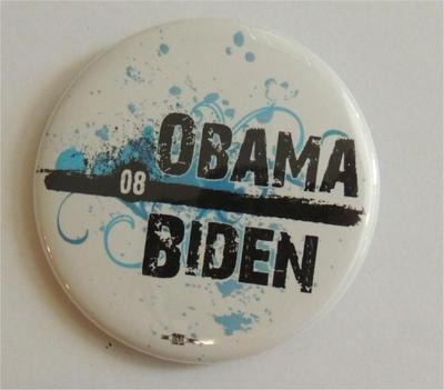 Obama 08 Biden Campaign Button