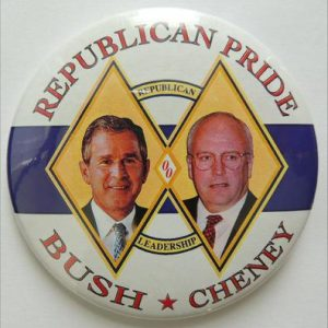 2000 Republican Pride Republican Leadership Bush Cheney Campaign Button