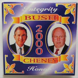 Integrity Bush 2000 Cheney Honor Campaign Button