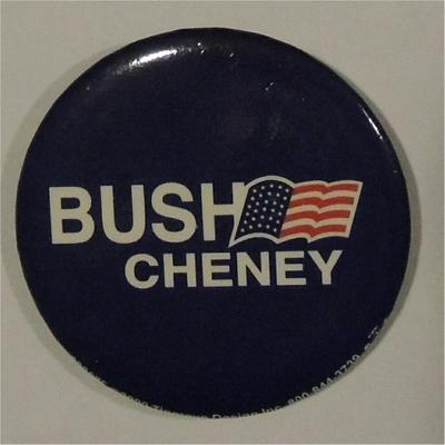 Bush Cheney Campaign Button Flag