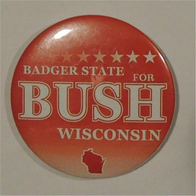 Badger State For Bush Wisconsin Campaign Button