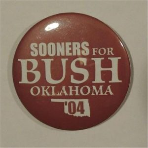 Sooners For Bush Oklahoma 04 Campaign Button