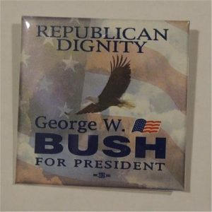 Republican Dignity George W. Bush For President Campaign Button