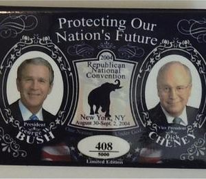 George W Bush Protecting Our Nations Future Button (No. 408)