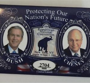 George W Bush Protecting Our Nations Future Button (No. 2704)