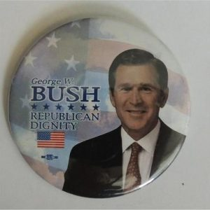 George W Bush - George bush Republican Dignity Campaign Button