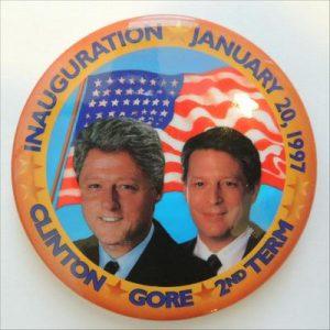 Clinton Gore 2nd term Campaign Button