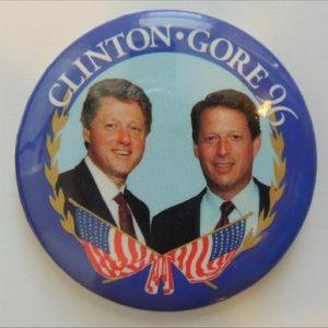 Clinton Gore 96 Campaign Button
