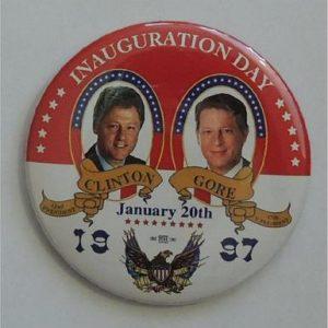 Inauguration Day Clinton Gore January 20th 1997 Campaign Button