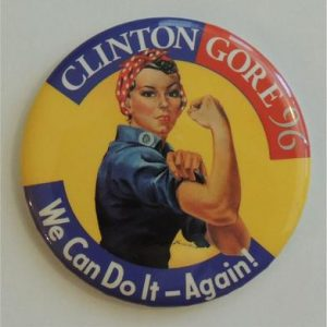 Clinton Gore 96 We can do it again Campaign Button