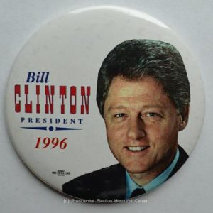 Bill Clinton President 1996 Campaign Button