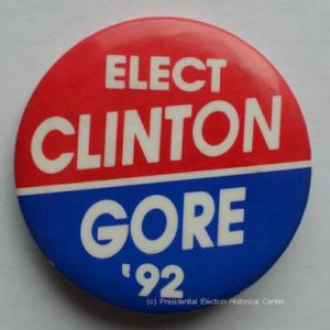 Elect Bill Clinton / Gore 92 Campaign Button
