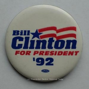 Bill Clinton for president 92 Button