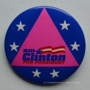 Bill Clinton for President Campaign Button