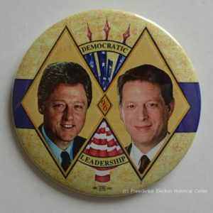 Bill Clinton Leadership Campaign Button