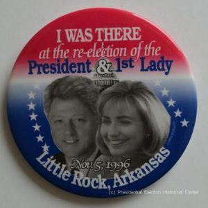 President and 1st Lady Little Rock Arkansas Clinton Campaign Button