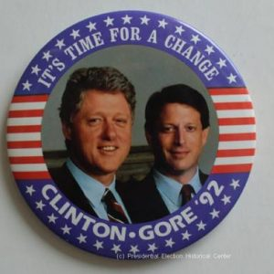 Its time for a change Clinton Gore  Campaign Button