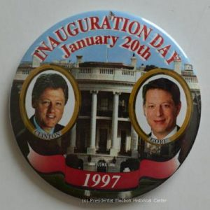 Bill Clinton Inauguration Day January 20th Campaign Button