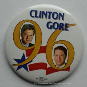 Bill Clinton Gore 96 Campaign Button