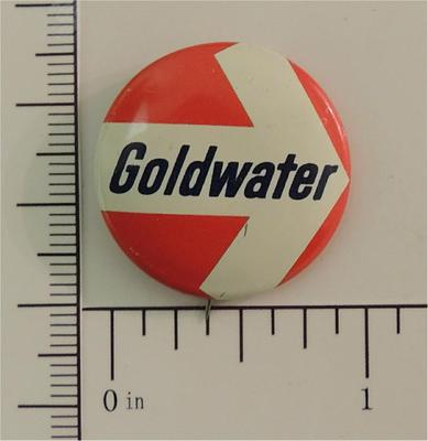 Goldwater in 64 original Flasher campaign button