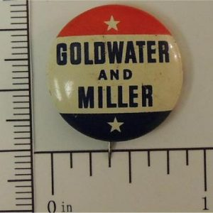 7/8 inch Goldwater in 64 original Flasher campaign button - Good condition