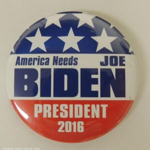 America needs Biden President 2016 campaign button that is red