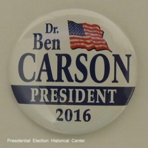 Dr. Ben Carson for President 2016 campaign button