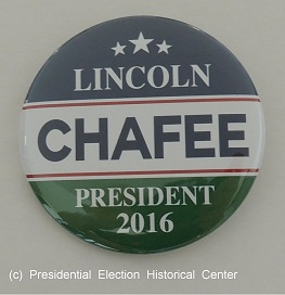 Lincoln Chafee President 2016. Blue