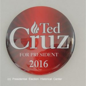 Red Ted Cruz For President 2016 campaign button