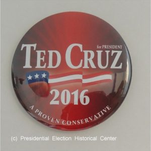 Red Ted Cruz for President campaign button