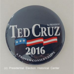 Blue Ted Cruz for President 2016 campaign button