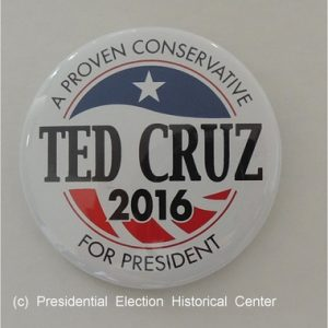 Ted Cruz 2016 white campaign button. A Proven Conservative For President