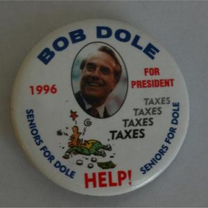 Bob Dole 1996 For President Taxes