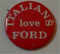 Ford Campaign Button - Italians love Ford Campaign Button