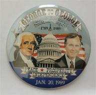 Bicentennial Presidential Inaugural 1779 to 1989 Campaign Button