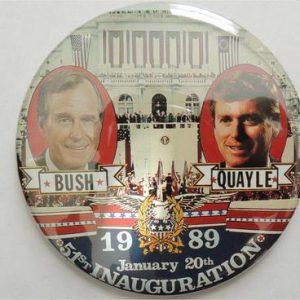 Bush Quayle 1989 51st Inauguration Campaign Button
