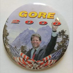 Gore 2000 campaign button Mountains