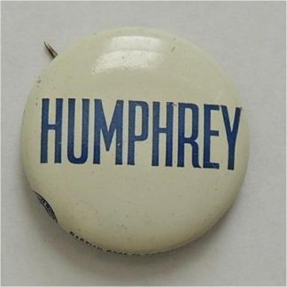 1972 original white Hubert Humphrey campaign button